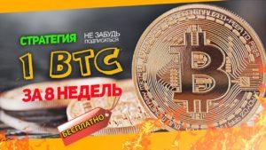 как заработать 1 биткоин без вложений и приглашений